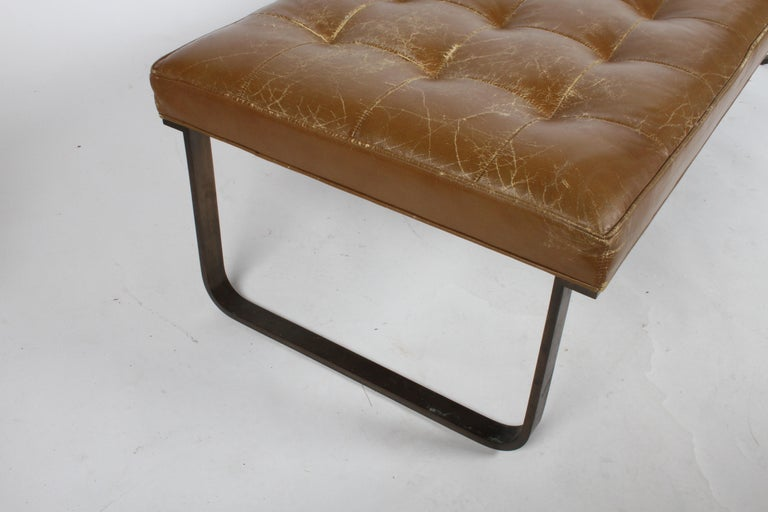 Nicos Zographos Museum Bench with Bronze Base For Sale 3