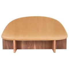 NIDO Sofa in Solid Walnut and Maharam Wool Velvet Upholstery