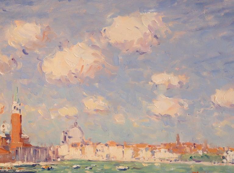 Modern Niek van der Plas, Venise, Oil on Canvas For Sale