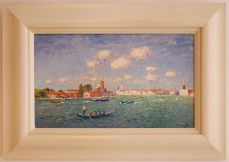 Oiled Niek van der Plas, Venise, Oil on Canvas For Sale