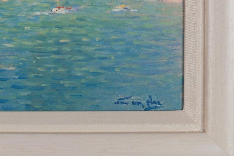 20th Century Niek van der Plas, Venise, Oil on Canvas For Sale