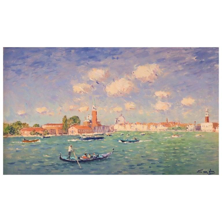 Niek van der Plas, Venise, Oil on Canvas For Sale
