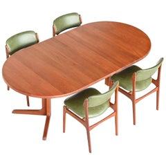 Niels Bach Extendable Teak Dining Table Randers Møbelfabrik, Denmark, 1960