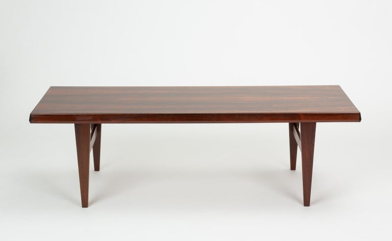 Mid-Century Modern Niels Bach Rosewood Coffee Table For Sale