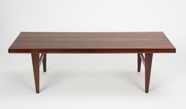 Danish Niels Bach Rosewood Coffee Table For Sale