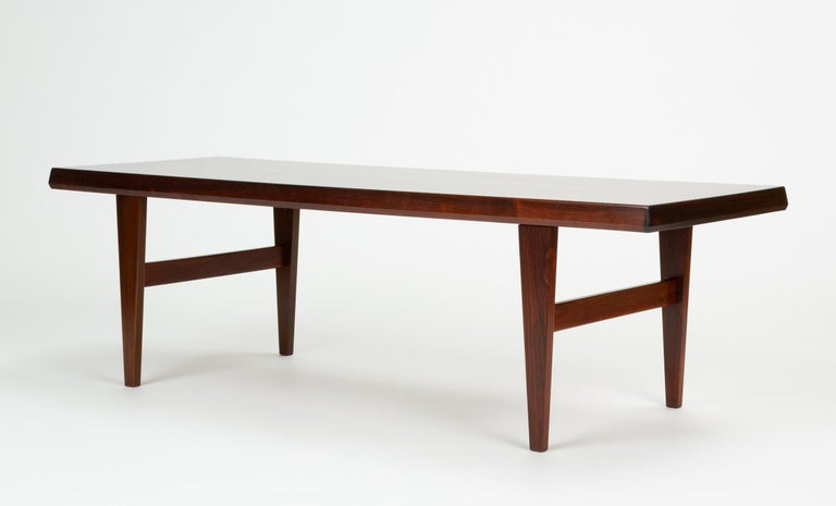 Mid-20th Century Niels Bach Rosewood Coffee Table For Sale