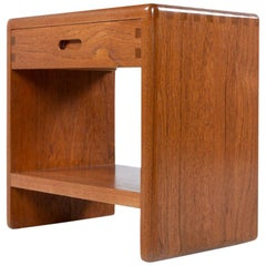 Niels Bach Solid Teak Danish Modern Nightstand End Table