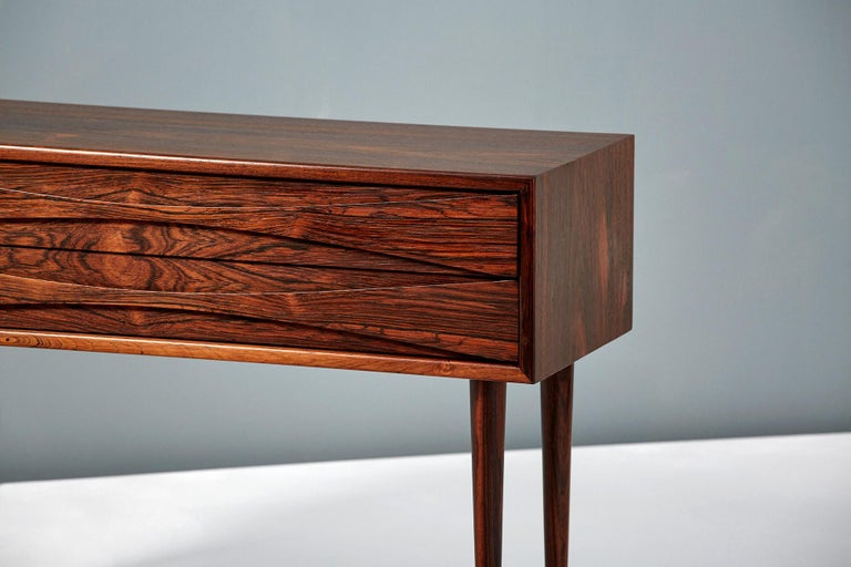 Danish Niels Clausen Pair of Rosewood Nightstands, circa 1960 For Sale