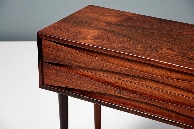 Mid-20th Century Niels Clausen Pair of Rosewood Nightstands, circa 1960 For Sale