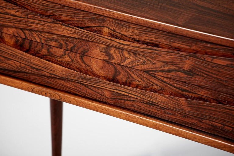 Niels Clausen Pair of Rosewood Nightstands, circa 1960 For Sale 1