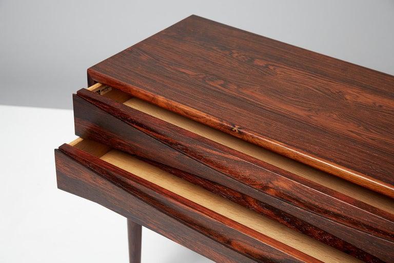 Scandinavian Modern Niels Clausen Rosewood Bedside Cabinet, circa 1960 For Sale
