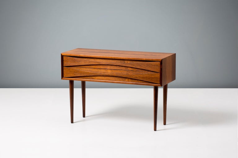 Niels Clausen Rosewood Bedside Cabinet, circa 1960 In Excellent Condition For Sale In London, GB