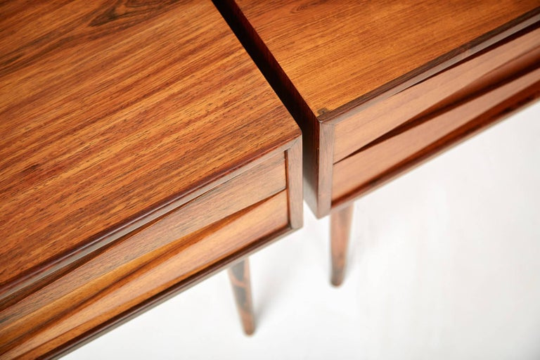 Danish Niels Clausen Rosewood Bedside Cabinets For Sale