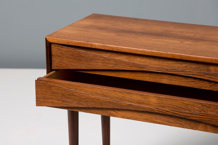 Niels Clausen Rosewood Bedside Cabinets In Good Condition For Sale In London, GB