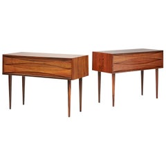 Niels Clausen Rosewood Bedside Cabinets