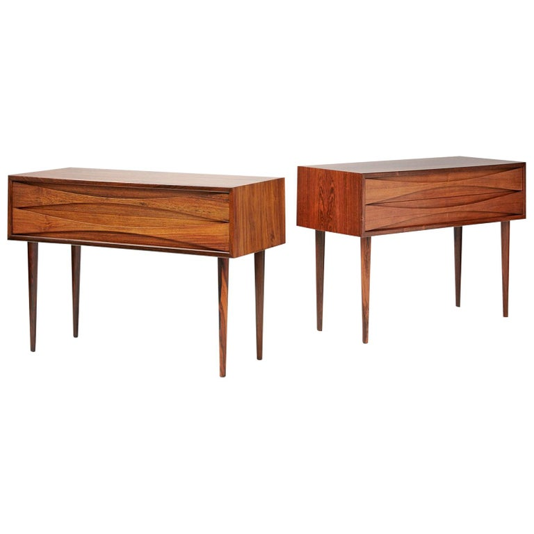 Niels Clausen Rosewood Bedside Cabinets For Sale