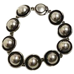 Niels Erik From Sterling Silver Bracelet with Silver Stones