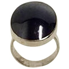Niels Erik From Sterling Silver Ring with Hematite