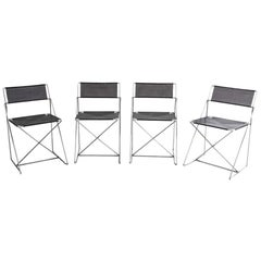 Niels Jørgen Haugesen for Hybodan Set of 4 Stacking X-Line Chairs