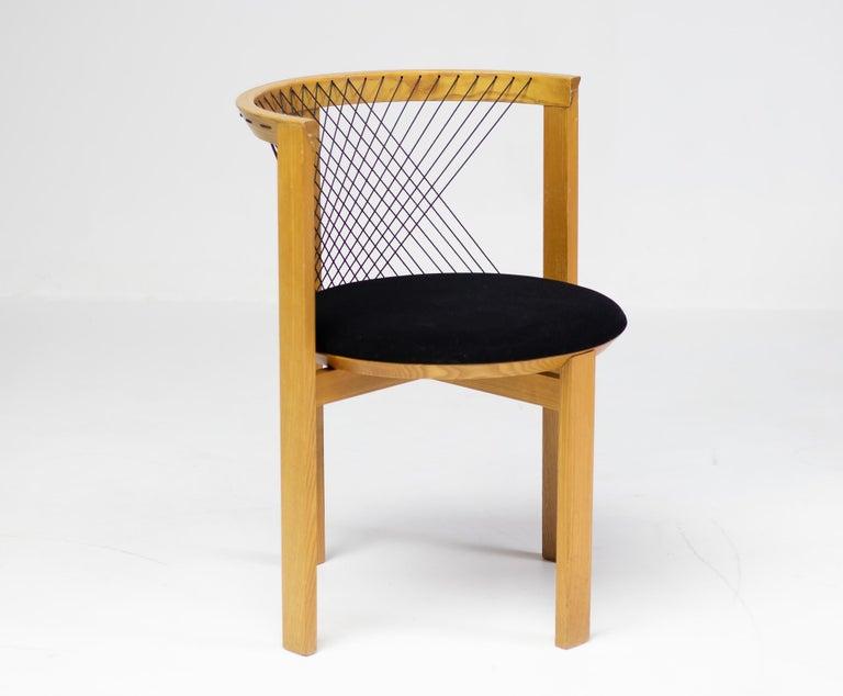 Fabric Niels Jørgen Haugesen String Chair For Sale