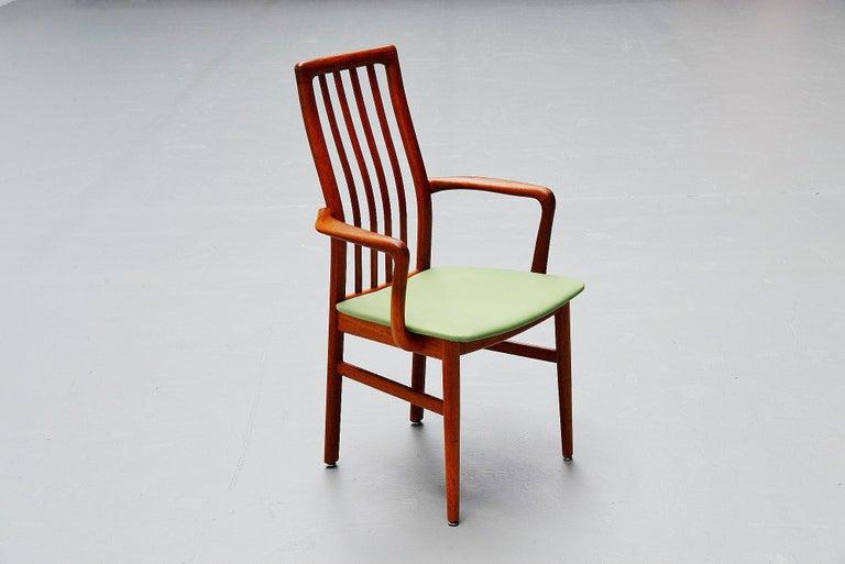 Upholstery Niels Koefoed Armchairs, Denmark, 1960