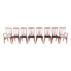 Niels Koefoed for Koefoeds Hornslet Danish Modern Teak Dining Chairs, Set of 8