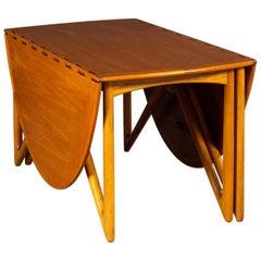 Niels Koefoed Gate-Leg Teak Dining Table No. 304 Danish Midcentury