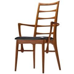 Niels Koefoed 'Lis' Chair in Black Leather and Teak