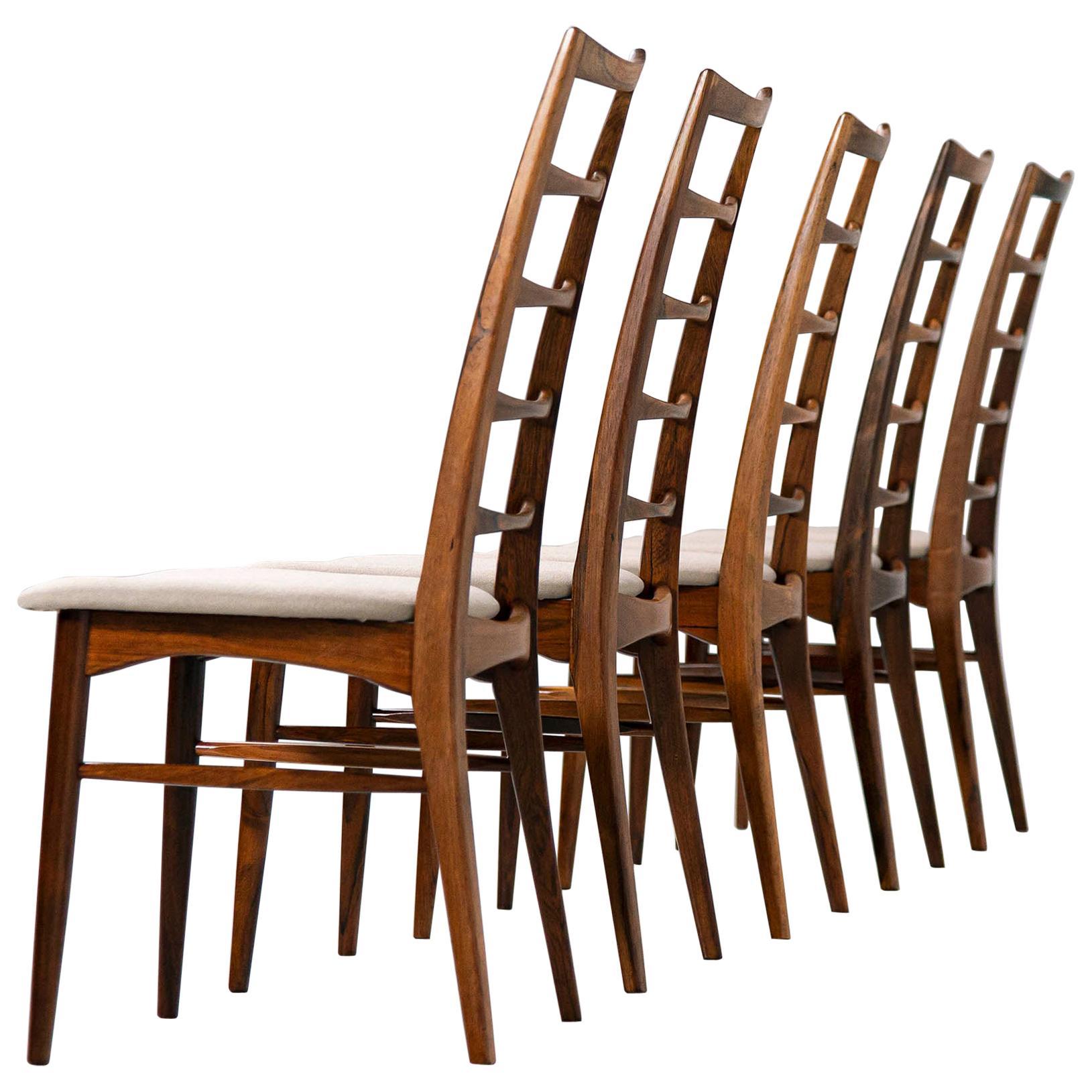 Niels Koefoed Lis Rosewood Dining Chairs, Denmark, 1961