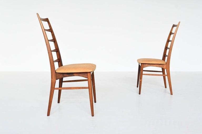 Niels Koefoed Model Lis Rosewood Dining Chairs Denmark 1961 3