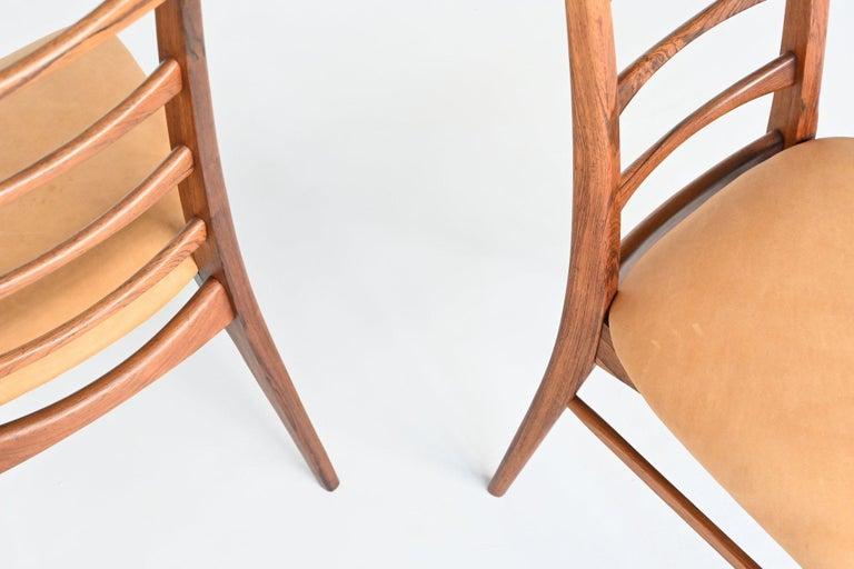 Niels Koefoed Model Lis Rosewood Dining Chairs Denmark 1961 5