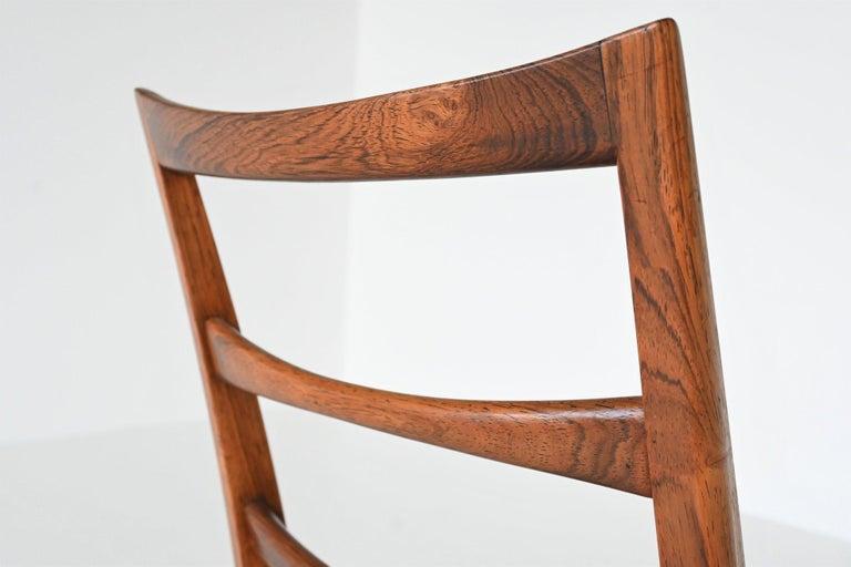 Niels Koefoed Model Lis Rosewood Dining Chairs Denmark 1961 7