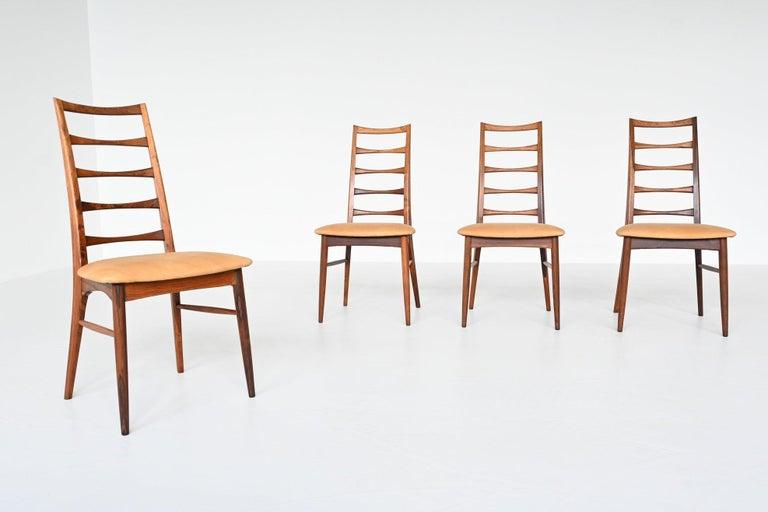 Niels Koefoed Model Lis Rosewood Dining Chairs Denmark 1961 In Good Condition In Etten-Leur, NL
