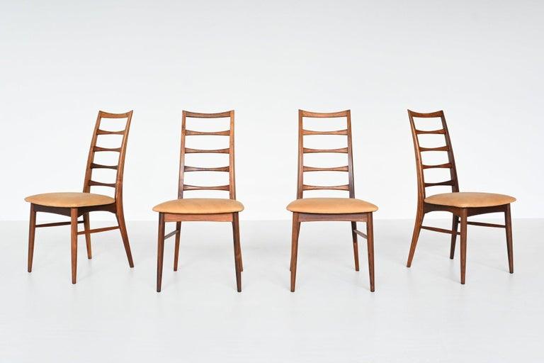 Mid-20th Century Niels Koefoed Model Lis Rosewood Dining Chairs Denmark 1961