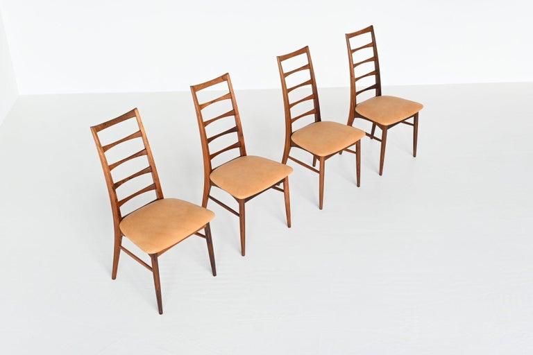 Niels Koefoed Model Lis Rosewood Dining Chairs Denmark 1961 1
