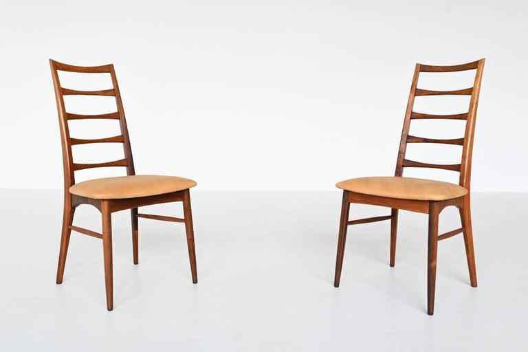 Niels Koefoed Model Lis Rosewood Dining Chairs Denmark 1961 2