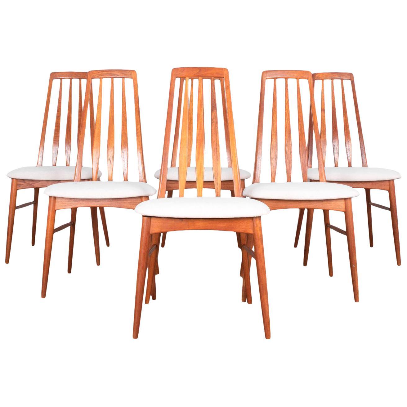 Niels Koefoed Mid-Century Modern Dining Chairs, Set of 6