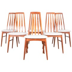 Niels Koefoed Mid-Century Modern Dining Chairs, Set of 6