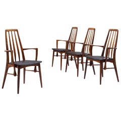 Niels Koefoed Set of Four 'Eva' Dining Chairs in Rosewood