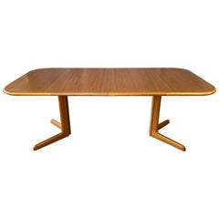 Niels Møller for Gudme Danish Teak Extension Dining Table with Two Leaves, 1970s