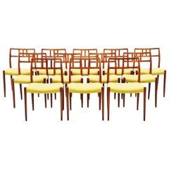 Niels Møller Model 79 Teak Chairs 12, Denmark, 1966