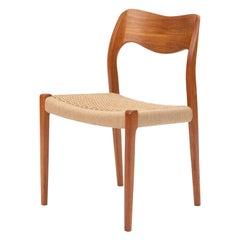 Single Niels Møller No. 71 Teak Dining Chair