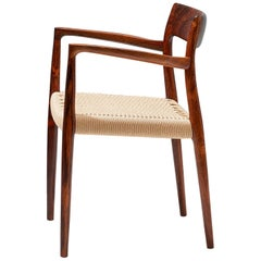 Niels Moller 1950s Model 57 Rosewood Carver Chair