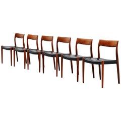 Niels Moller Dining Chairs Model 77 in Teak, Denmark, 1959