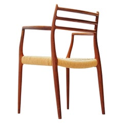 Niels Moller Model 62 Carver Armchair in Teak, Denmark, 1962