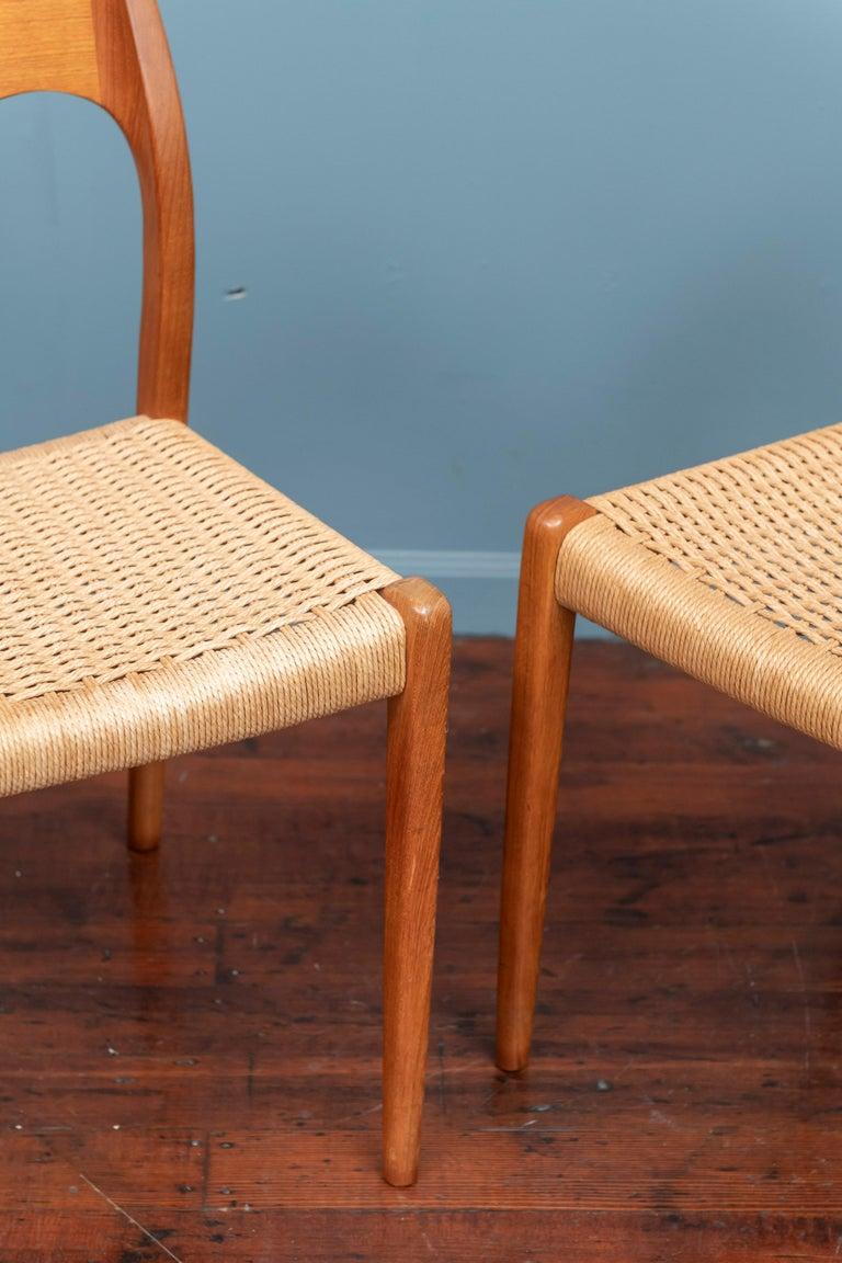Danish Niels Møller Model 71 Teak Dining Chairs For Sale