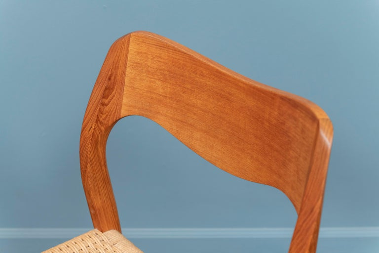 Niels Møller Model 71 Teak Dining Chairs In Good Condition For Sale In San Francisco, CA