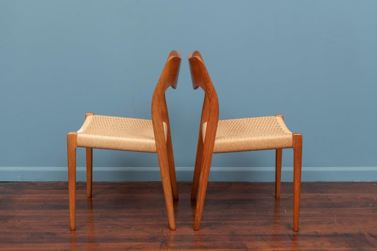 Late 20th Century Niels Møller Model 71 Teak Dining Chairs For Sale