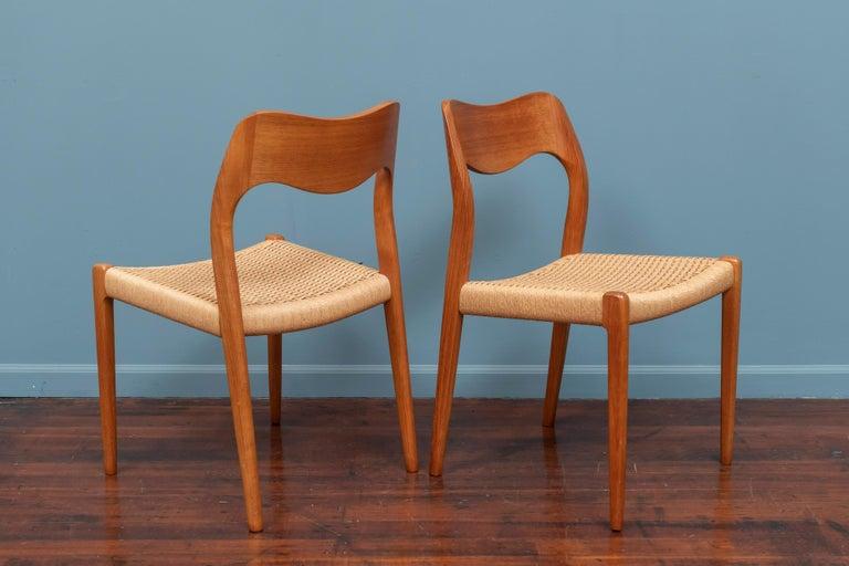 Niels Møller Model 71 Teak Dining Chairs For Sale 1