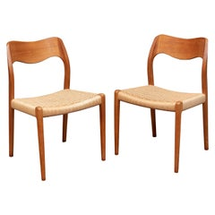 Niels Møller Model 71 Teak Dining Chairs